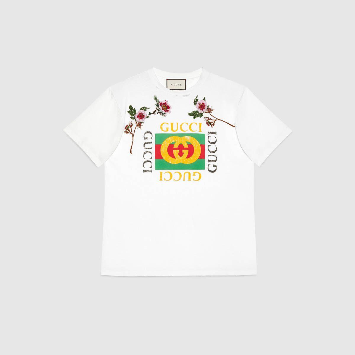b02a66b27c5 Gucci print cotton t-shirt
