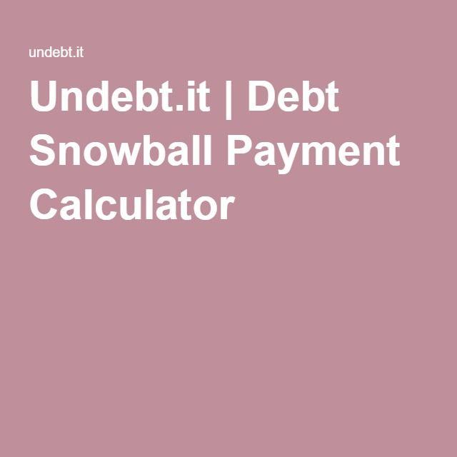 UndebtIt  Debt Snowball Payment Calculator  Intention Board