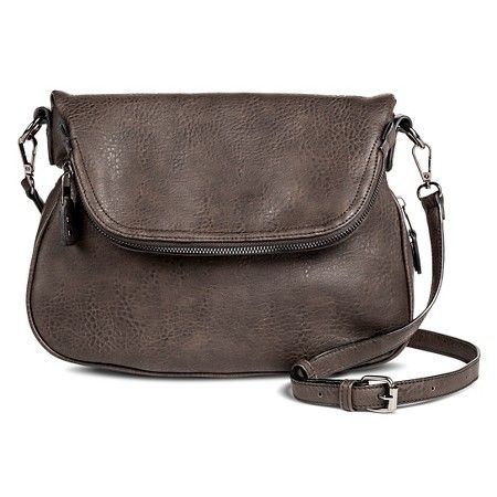 fe4e899ecb Women's Faux Leather Zipper Flap Crossbody Handbag : Target | cross ...