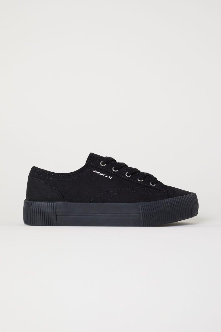 Buty Sportowe Na Platformie Czarny H M Pl 1 Platform Sneakers Minimalist Shoes Best Sneakers