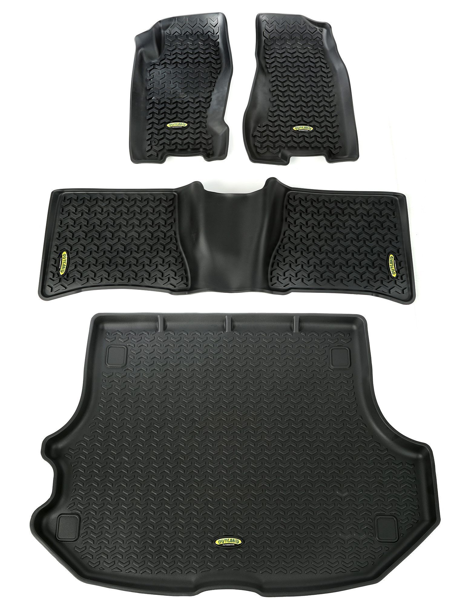 Floor Liners Kit Black 99 04 Jeep Grand Cherokee Wj 04 Jeep
