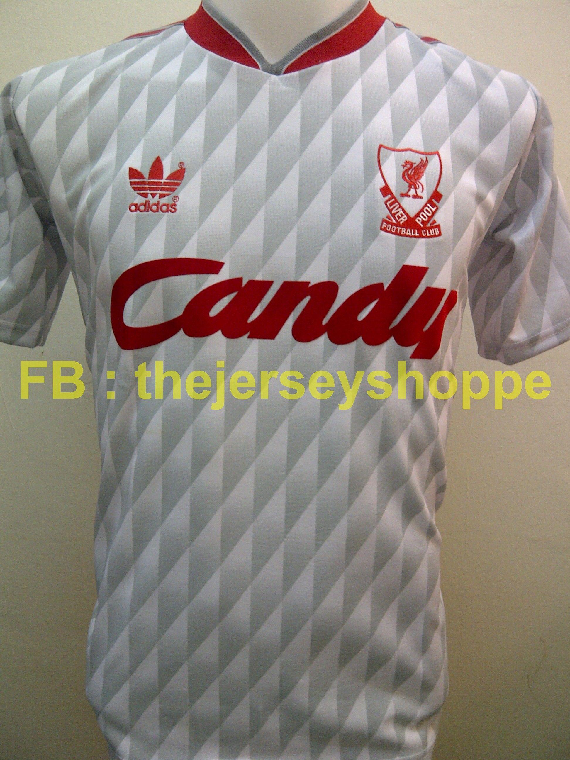 Liverpool 1990 Away Diamond Grey Vintage Jersey Conditon New Replica Fabric 100 Polyester Grade Aa Vintage Football Shirts Vintage Jerseys Jersey Sweater