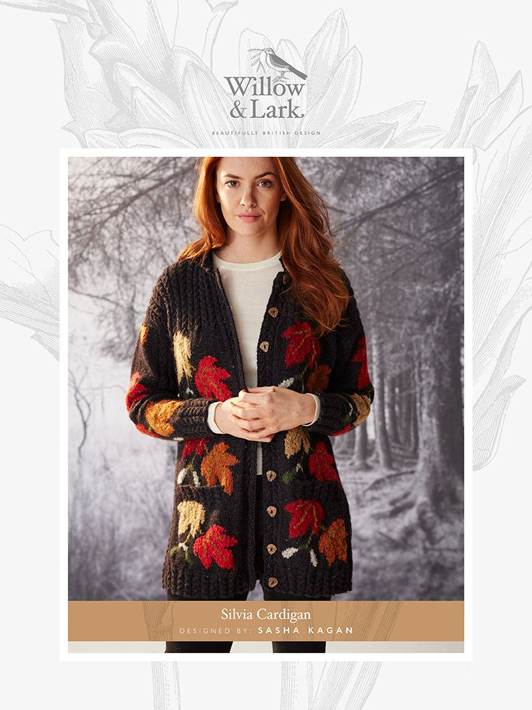 b62112e5a Silvia Cardigan in Willow and Lark Woodland - Downloadable PDF. Discover  more patterns by Willow and Lark at LoveKnitting. The world s largest range  of ...