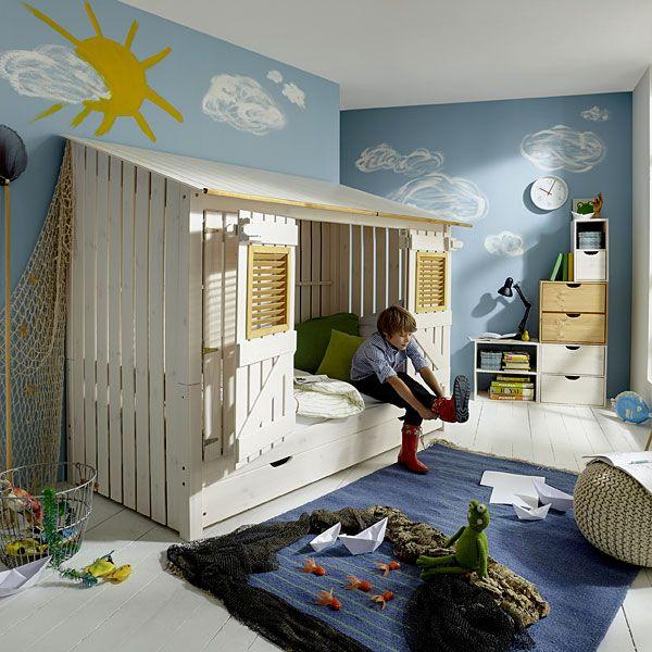 Lit Cabane Enfant Islande Chambreenfant Lit Enfant L - Lit cabane petit garcon