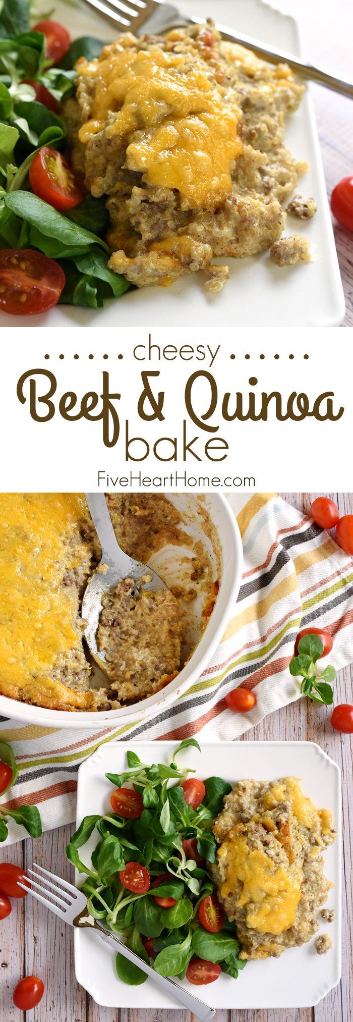 Cheesy Beef Quinoa Bake Quinoa Recipes Dinner Healthy Beef Recipes Picky Eater Recipes