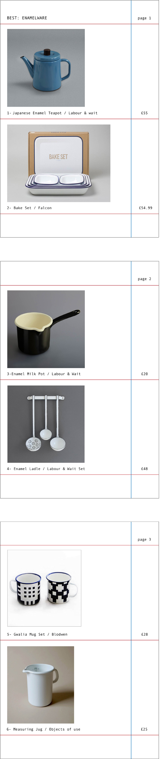 Enamelware (not just) for camping  Created by Claire
