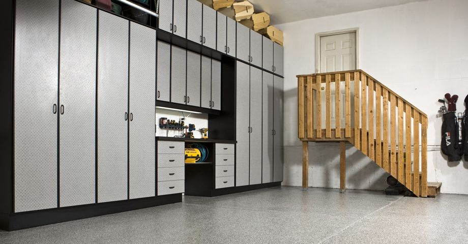 Beautiful Create A Custom And High Quality Garage Storage System Today. Add A  Workbench, Deep Shelving, Drawers Or Tall Cabinets To Create The Perfect  Garage Cabinets ...