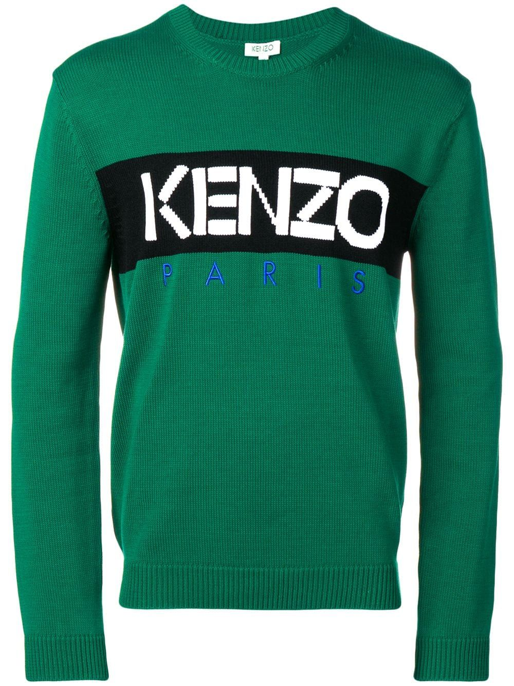 ddca160de KENZO KENZO LOGO SWEATER - GREEN. #kenzo #cloth   Kenzo in 2019 ...