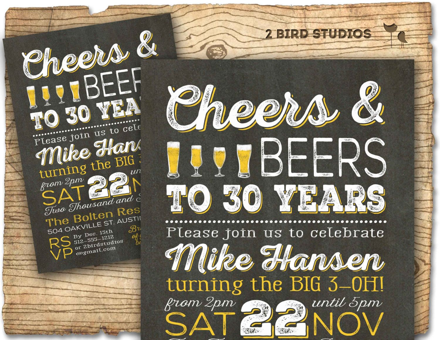 Cheers and beers to 30 years invitation 30th birthday invitation cheers and beers to 30 years invitation 30th birthday invitation for men 30th beer invitation surprise party chalkboard u print stopboris Images