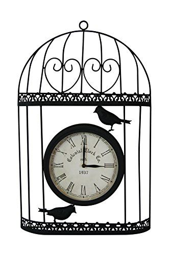 outdoor clocks alpine hav108 birdcage with clock 13 porch dcor this is an