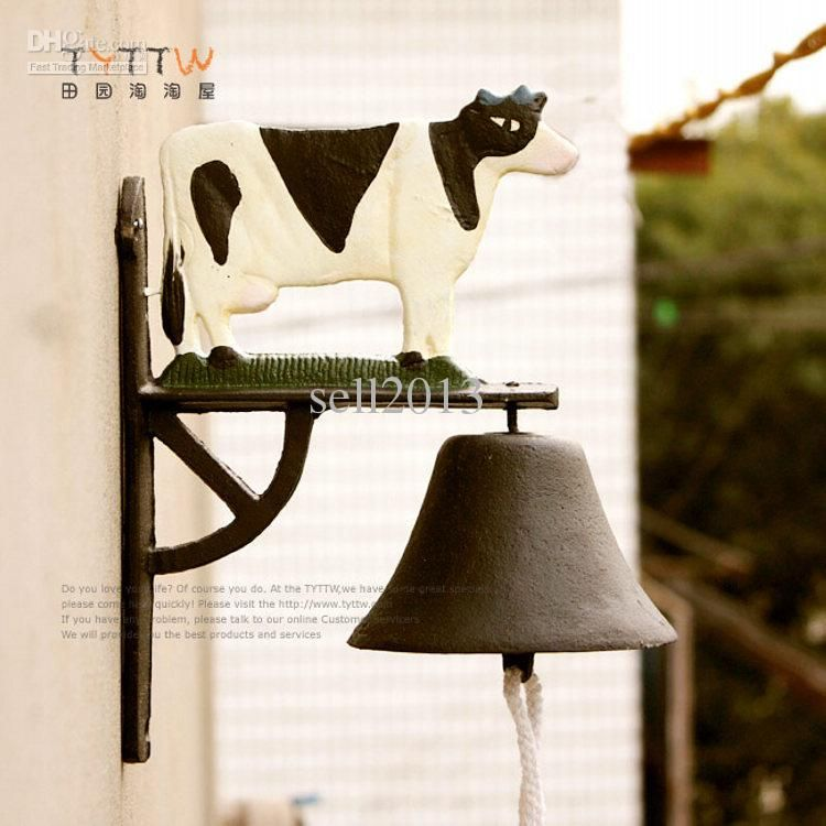 Superb American Dairy Cow Bell Tieyi Wall Decoration Home