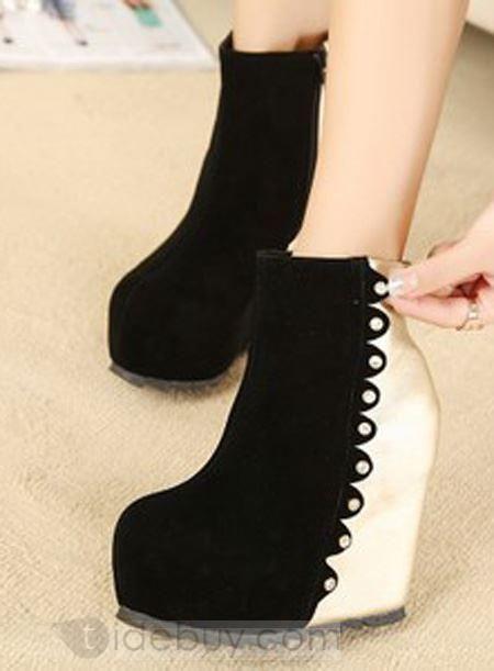 #auspicious  #hight   #heel #wedge  #boots