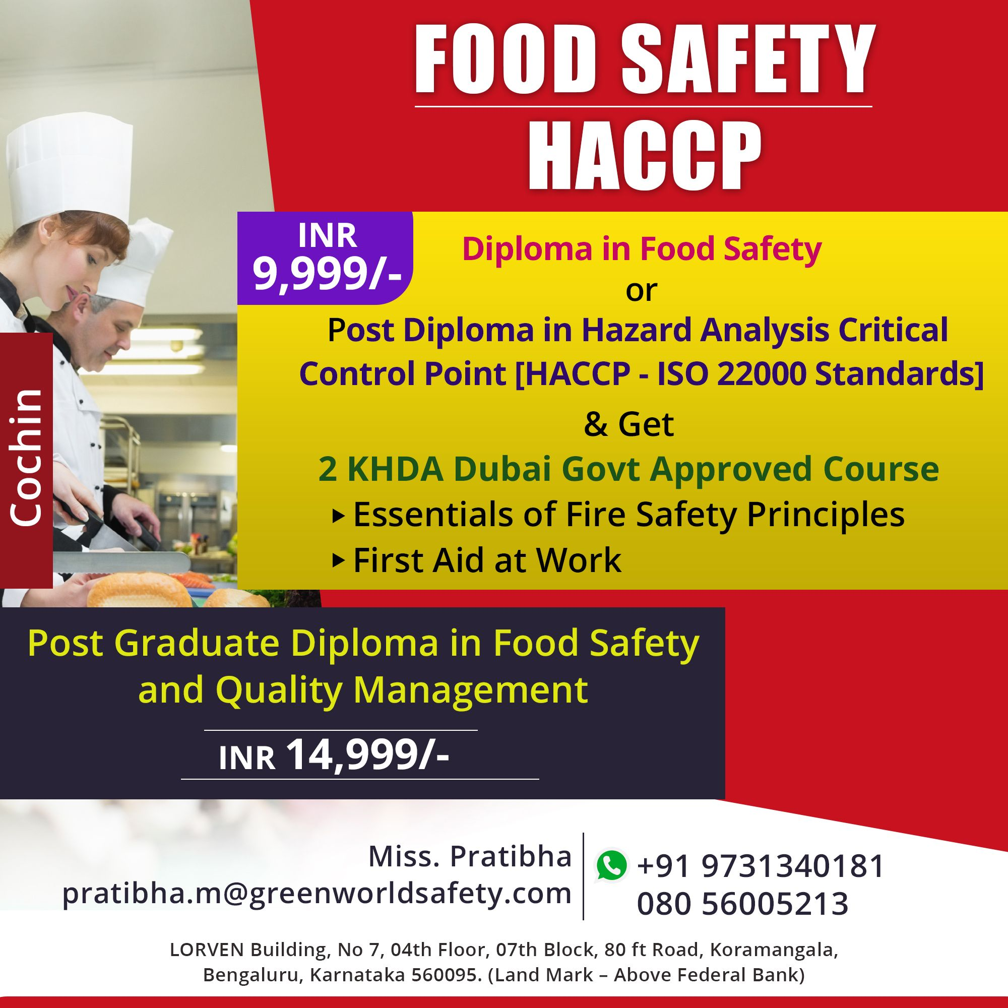 Enroll Food Safety Course Training in Chennai Food