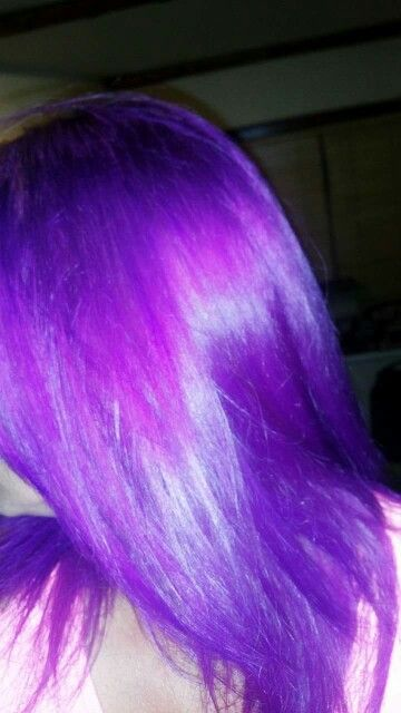 Light Blue And Magenta Mixed Together Long Hair Styles Hair