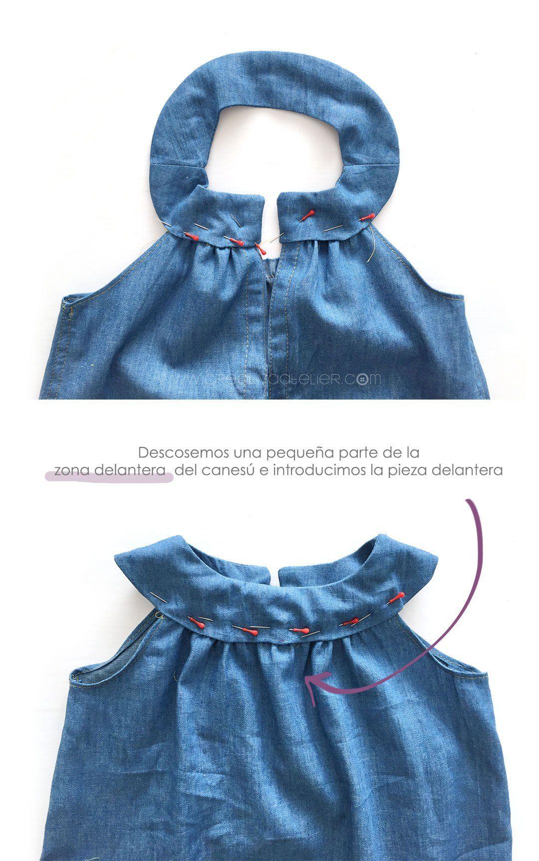81887433a Vestido Vaquero de Bebé   Patrón gratis y Tutorial DIY