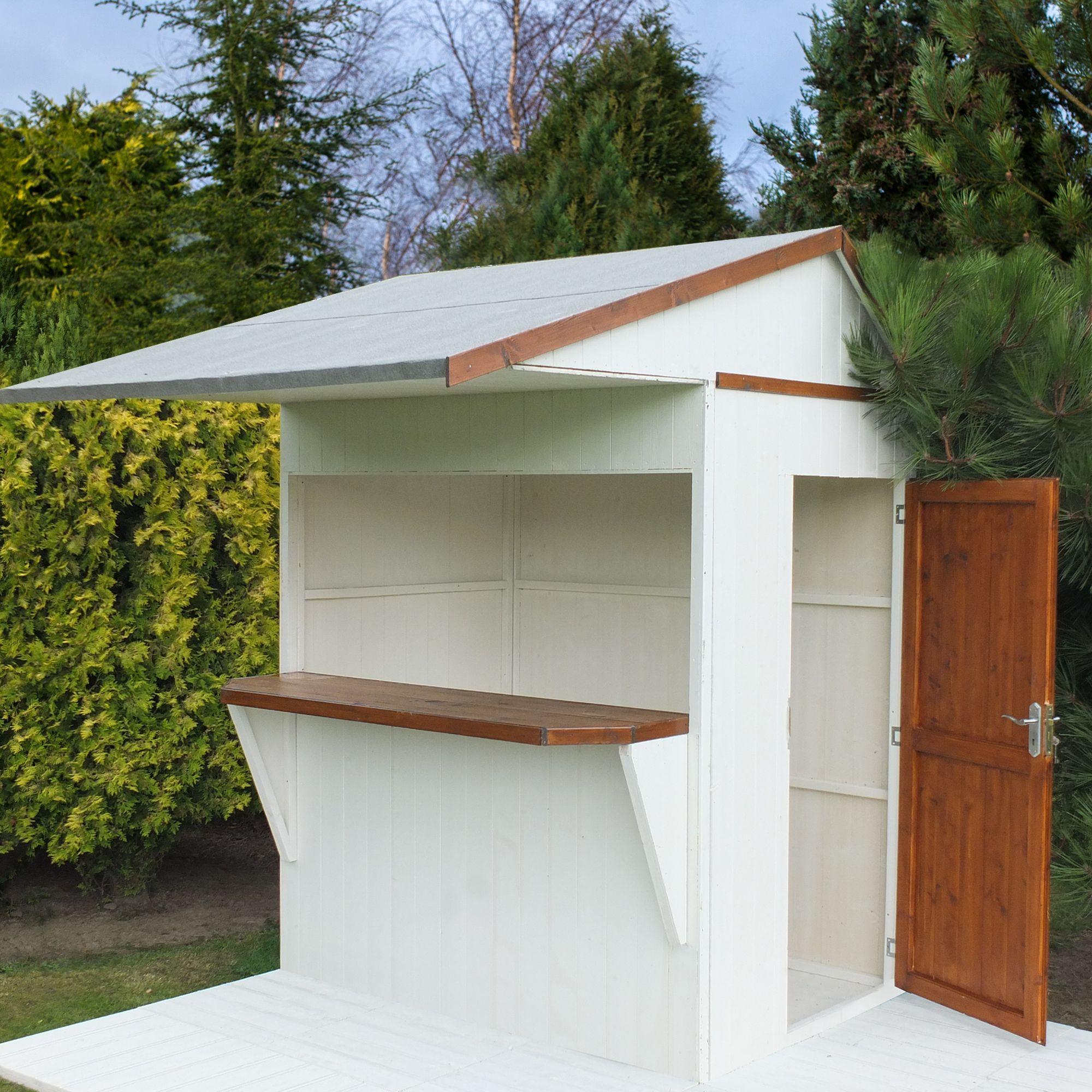 6x4 timber bar shiplap timber bar garden store with assembly service - Garden Sheds B Q