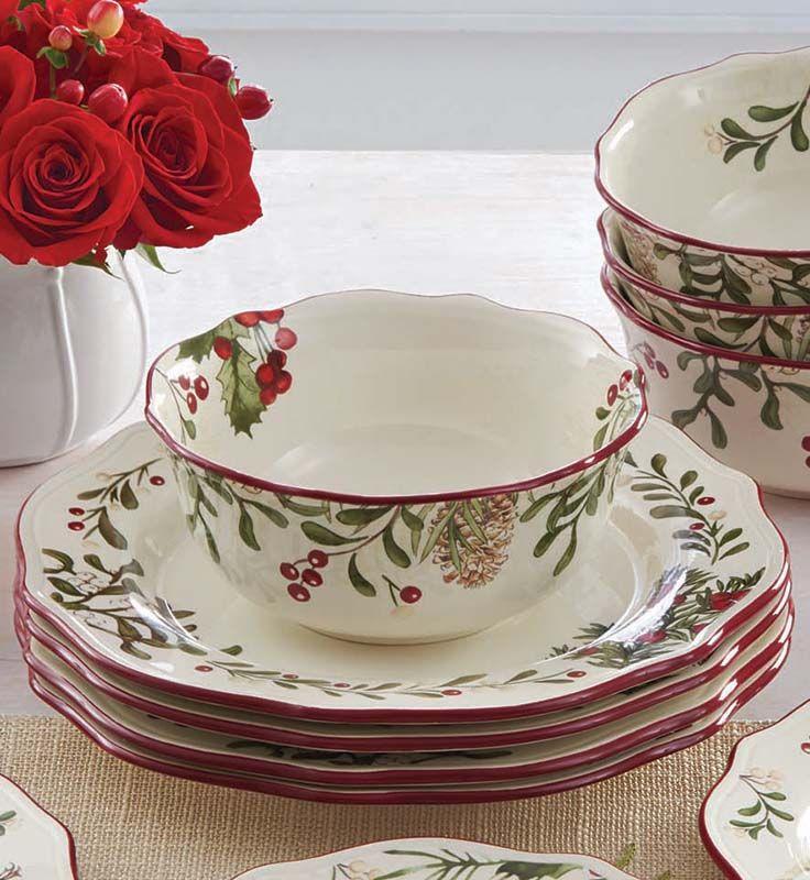 & Better Homes and Gardens Heritage 12-Piece Dinnerware Set