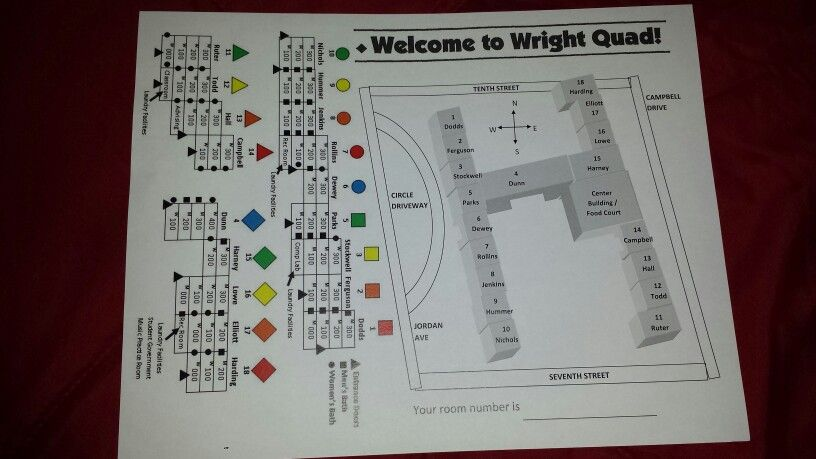 Wright Quad Map At Indiana University Bloomington Indiana
