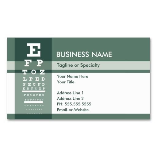 fleur de lys eye test business card templates eye doctor business