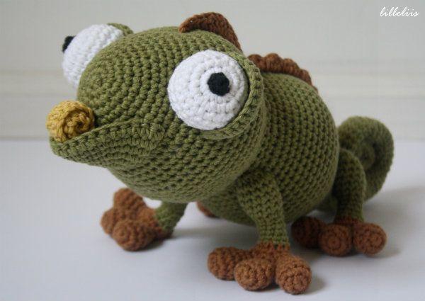 kameleon - Google zoeken   Handarbeiten   Pinterest   Häkeln, Tiere ...