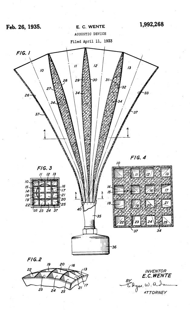 horn loudspeaker patent