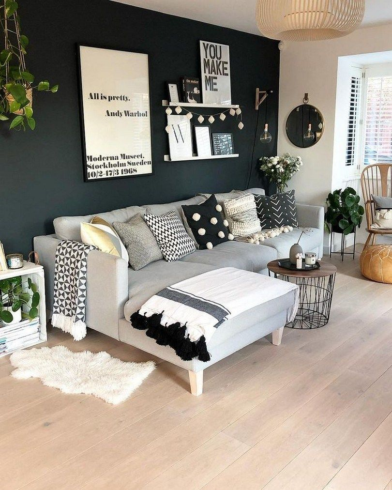 Best 57 Grey Small Living Room Apartment Designs To Look 640 x 480