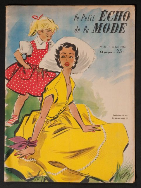 'ECHO DE LA MODE' FRENCH MAGAZINE 6 JUNE 1954 |