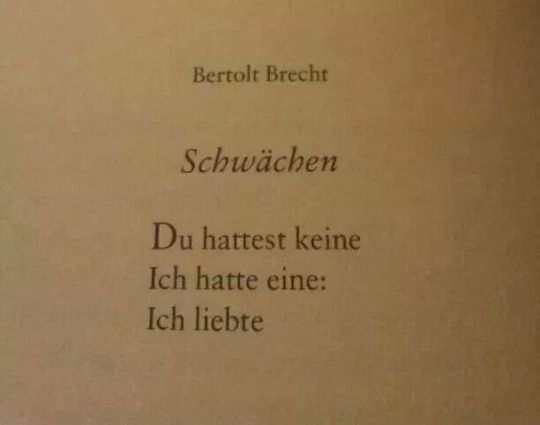 Bertolt Brecht Liebe Und Schwach