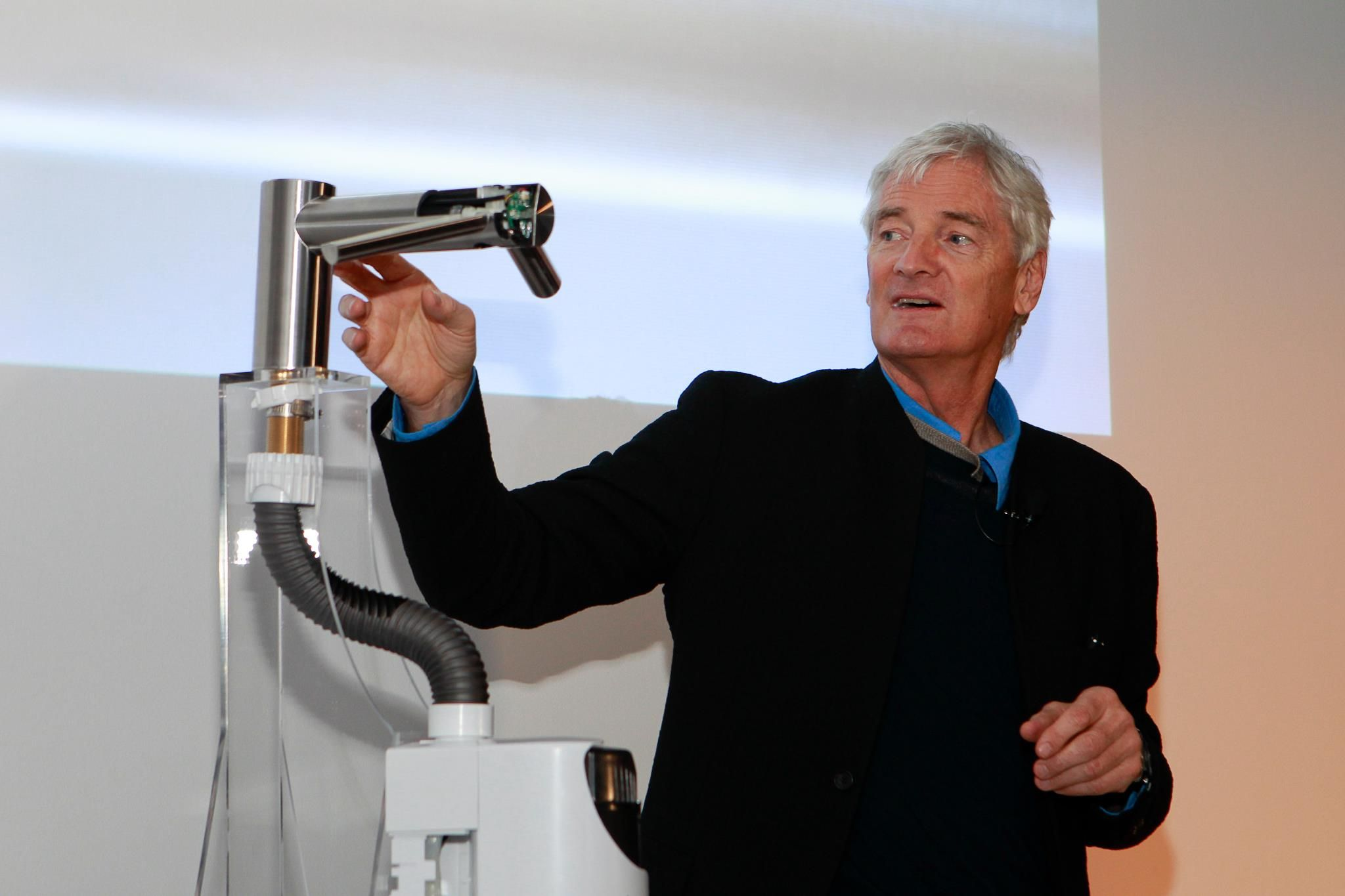 James Dyson just launched our new technology in New York. Using ...