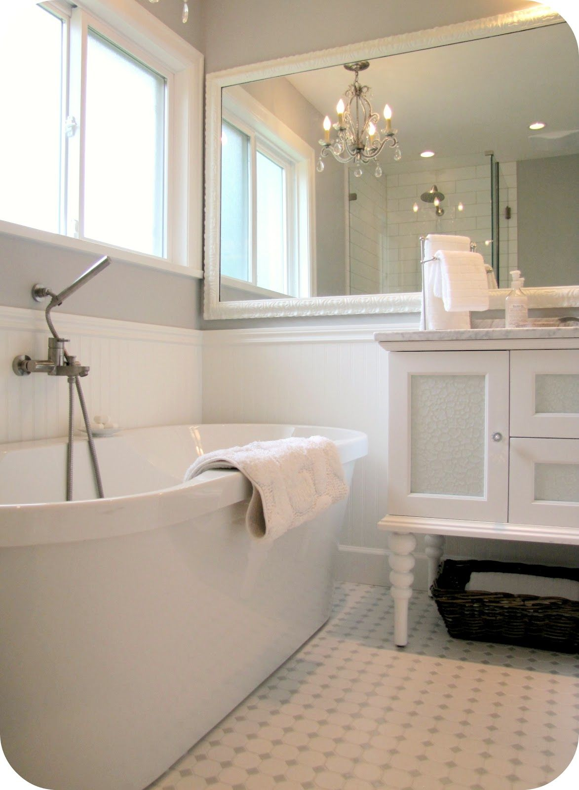 3 Fresh Inspirations for White Out Bathrooms | Pinterest | Grey ...