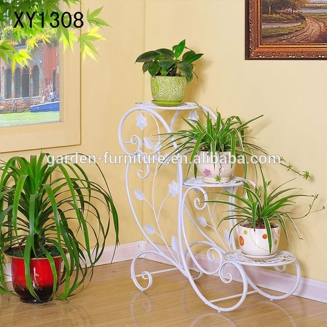 Source Xy1308 Garden Art Wholesale Flower Stand Shelf Planters Folded Rack For Pot Home Decor W Wrought Iron Decor Wrought Iron Plant Stands Iron Plant Stand
