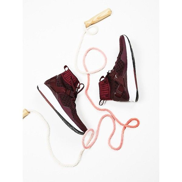 Ignite evoKNIT Sneaker ($130) ❤ liked on Polyvore featuring shoes, sneakers and free people shoes
