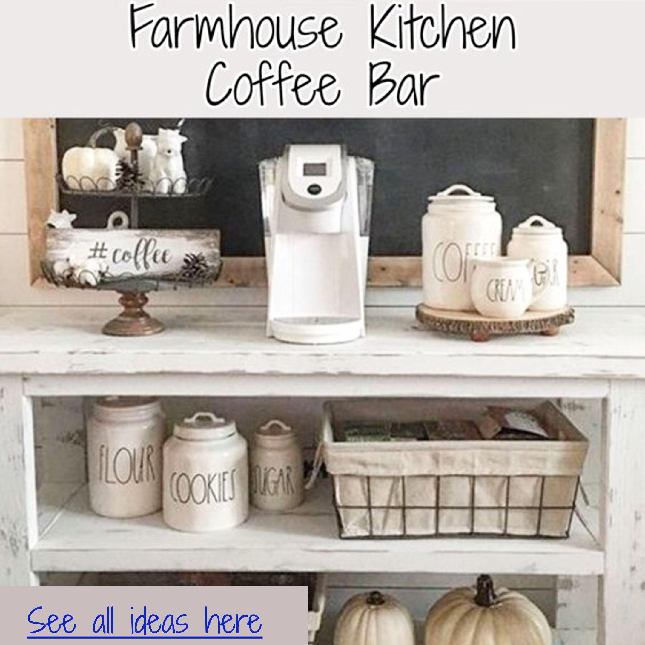 Farmhouse Kitchen Canister Sets And Farmhouse Kitchen Decor Ideas Coffee Bar Ideas Too Farmhouse Coffee Bar Farmhouse Kitchen Canisters Farmhouse Kitchen Decor