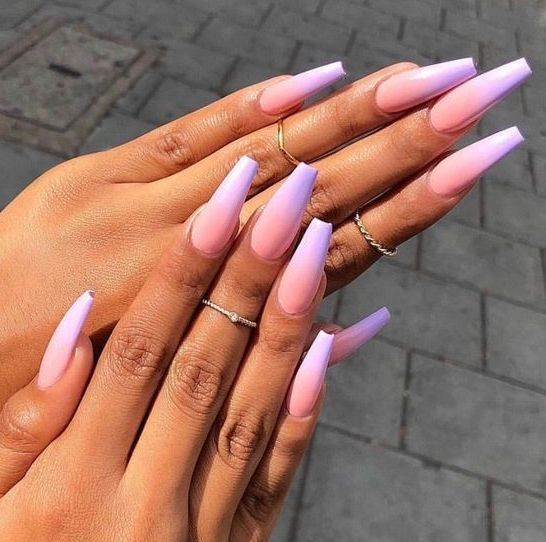 50 Gorgeous Ombre Matte Nail Designs You Will Love In 2020 With Images Blue Ombre Nails Lavender Nails Ombre Acrylic Nails