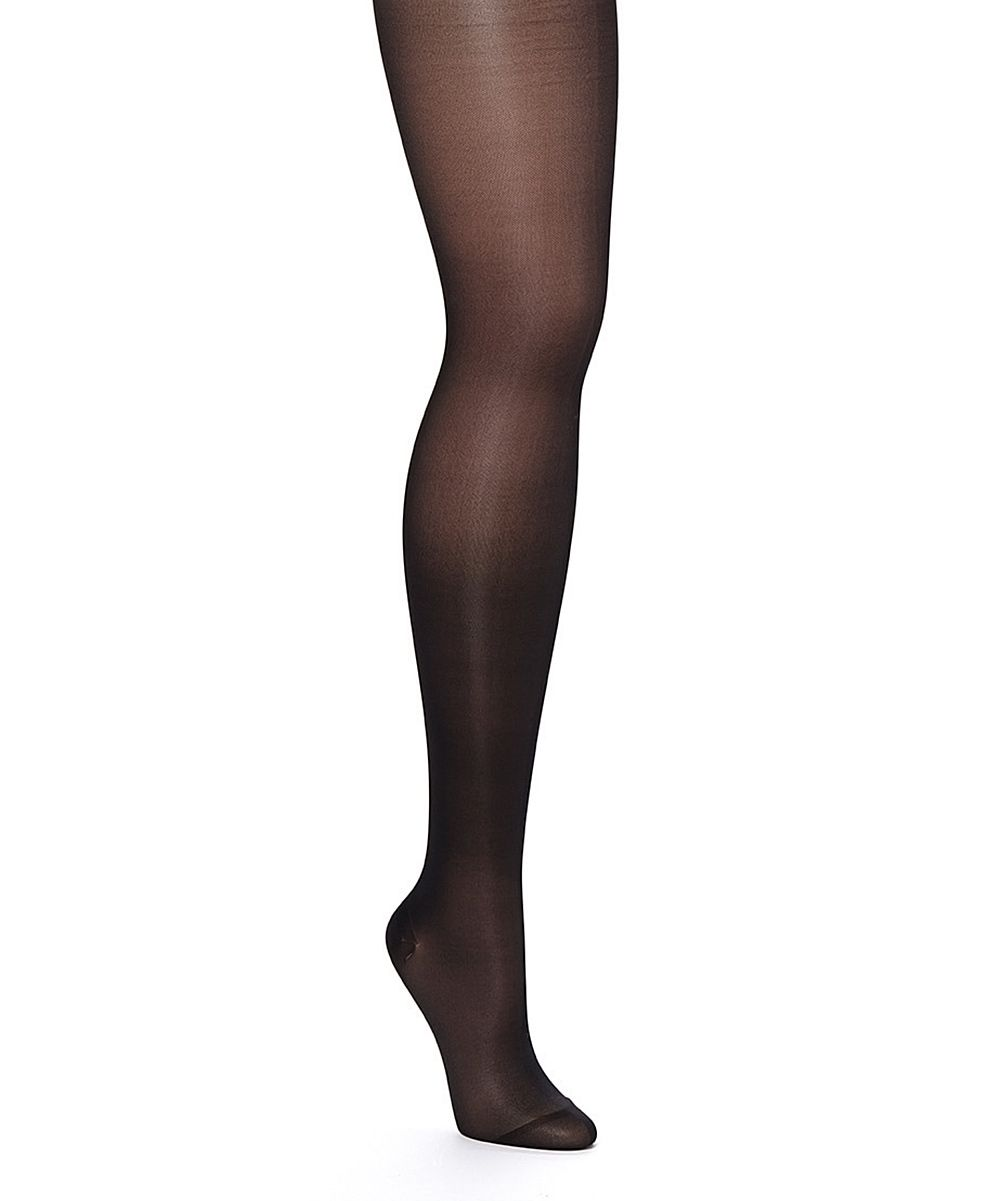 Black Firm Compression Maternity Control Pantyhose - Plus Too