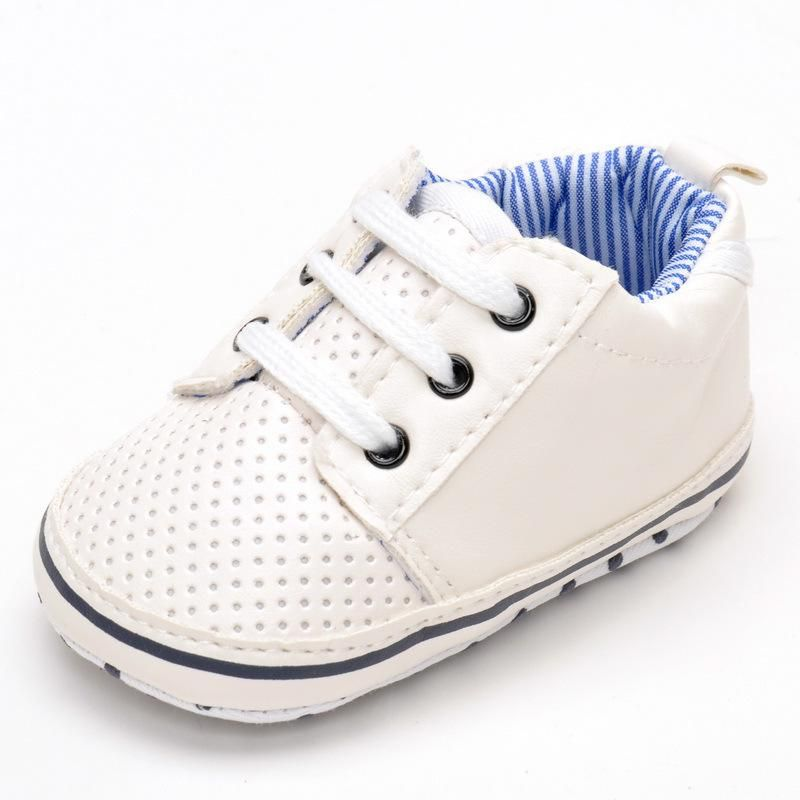 Non-Slip Boys Girls Rubber Sole Sneaker First Walkers Shoes Infant Casual Shoes Durable Color : White , Size : 5 M US Toddler