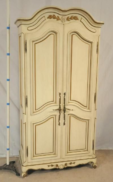 French Style Armoire With Fitted Interior And Raised Panel Doors, $499