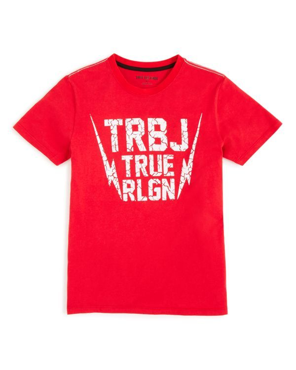 True Religion Boys' Thunderbolt Logo Tee - Sizes 2-7