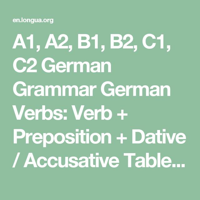 a1 a2 b1 b2 c1 c2 german grammar german verbs verb