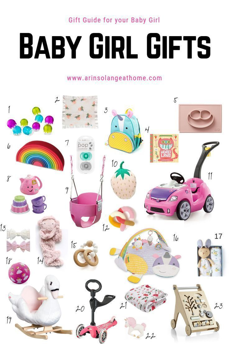 Gift Guide for Baby Girls Best baby girl gifts, Baby