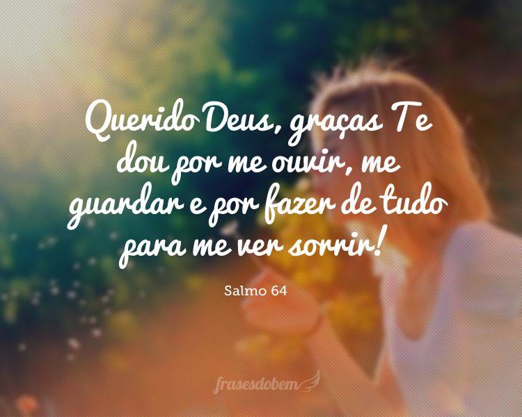 Querido Deus, Graças Te Dou Por Me Ouvir, Me Guardar E Por
