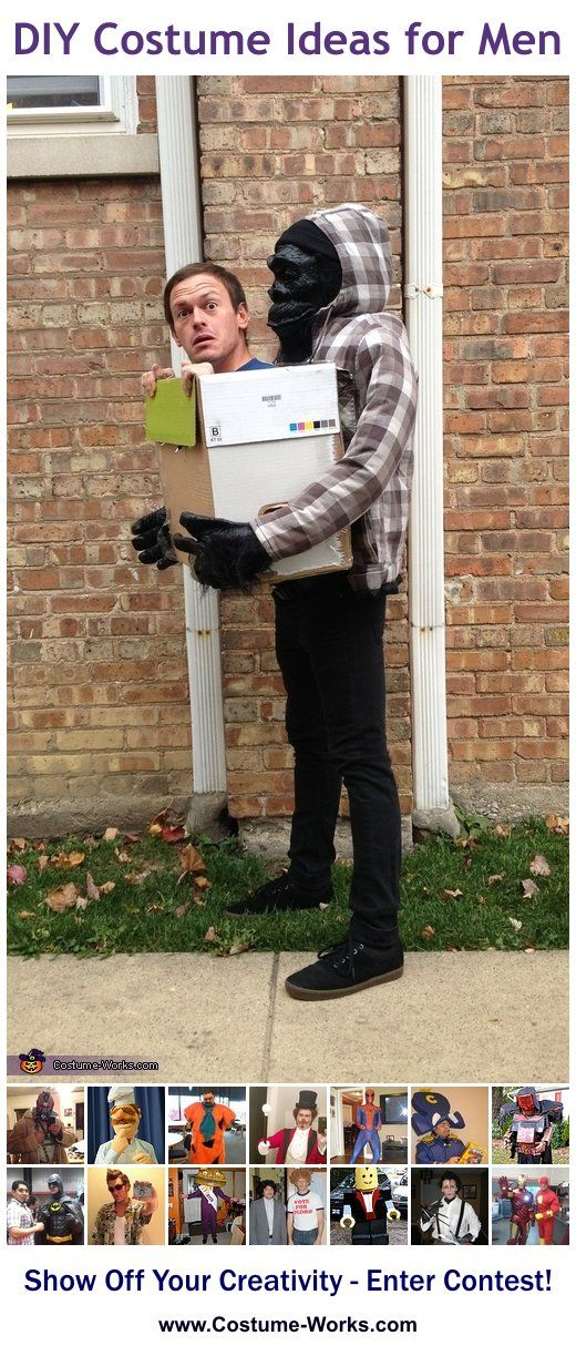 Gorilla Carrying Human - tons of DIY costume ideas for men!  sc 1 st  Pinterest & Homemade Costumes for Men | Pinterest | Diy costumes Costumes and ...