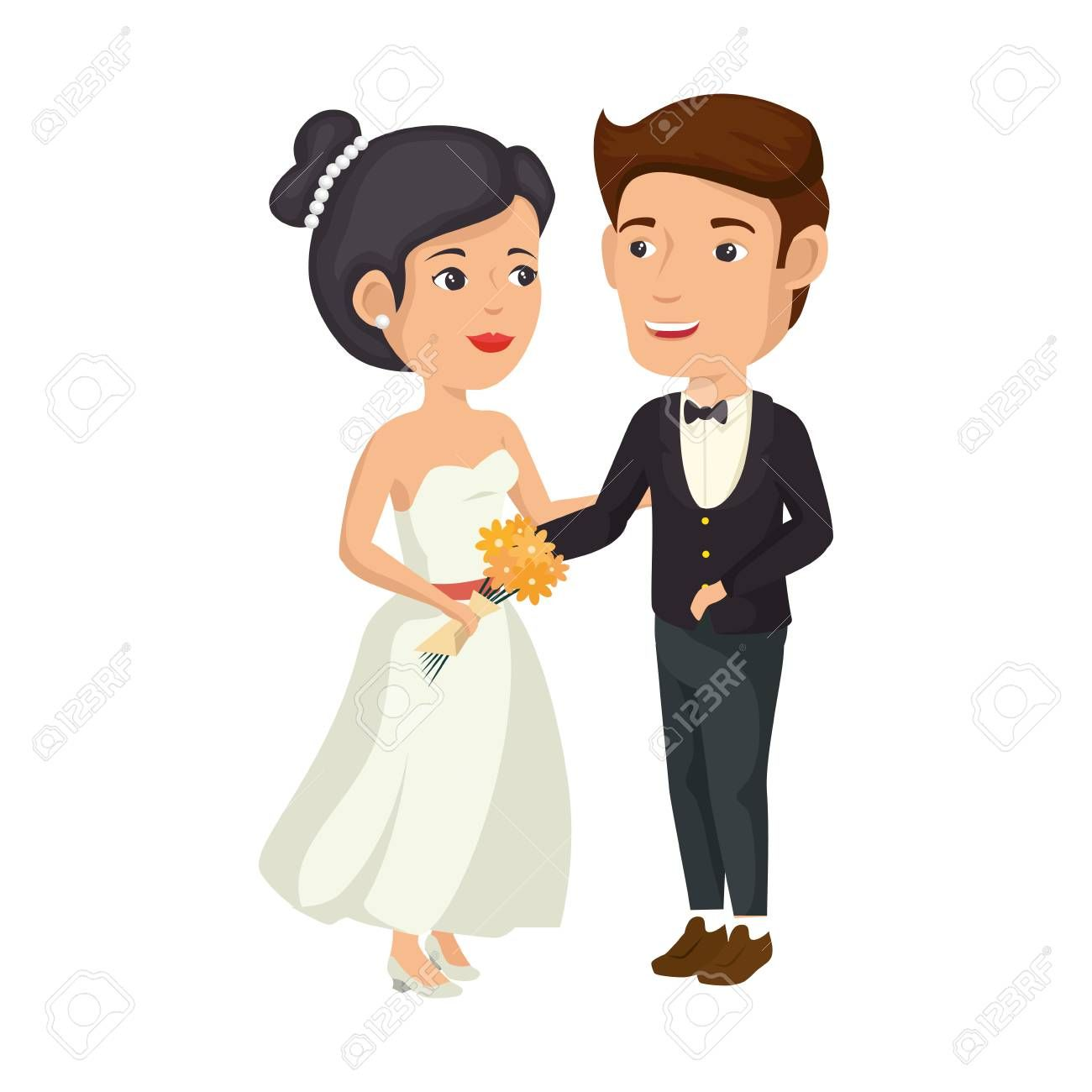 A Cartoon Happy Wedding Couple Icon Over White Background Vector Illustration Aff Wedding Couple Cartoon Happy Happy Wedding Wedding Couples Cartoon