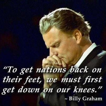 Billy Graham Praying For The Country