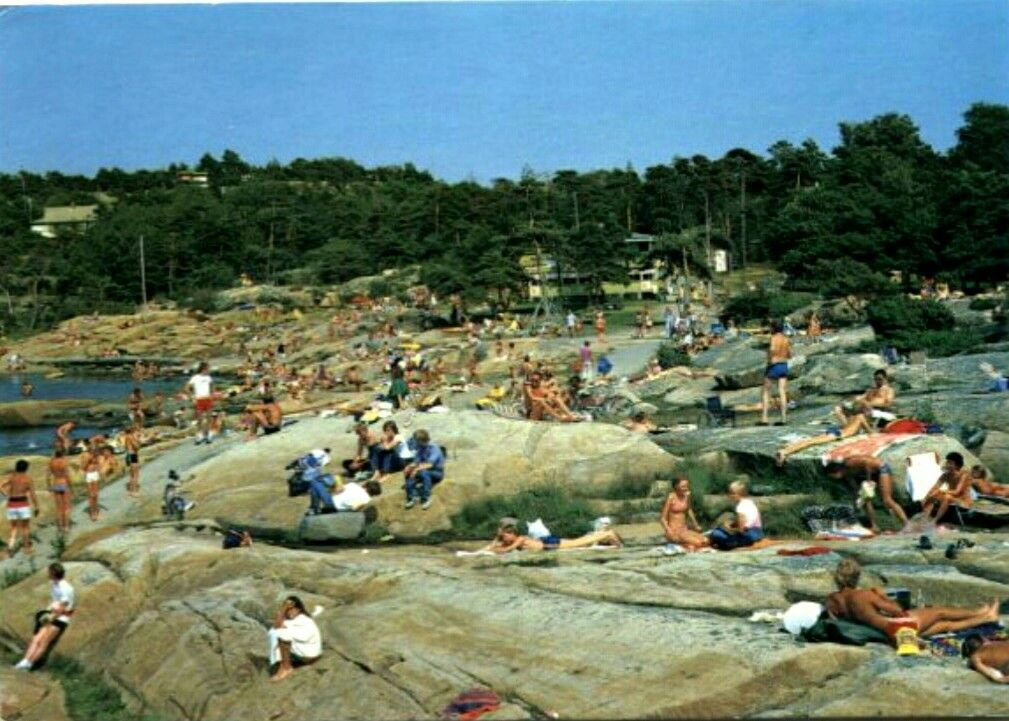 Østfold fylke Fredrikstad Gressvik  Foten Badested.  Utg Mittet Stemplet 1988