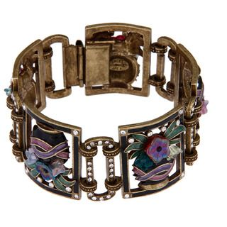 @Overstock - There is something magical about putting on a piece of Sweet Romance jewelry Beyond mere ornament, this bracelet connects its wearer with the lineage of women whose fashion artifacts continue to influence our sense of stylehttp://www.overstock.com/Jewelry-Watches/Sweet-Romance-Deco-Jet-Vases-Bracelet/3297844/product.html?CID=214117 $74.99