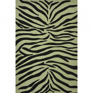 Jaipur Rugs Coastal Living Party Lines Ebony / White Indoor / Outdoor Rug - CI02