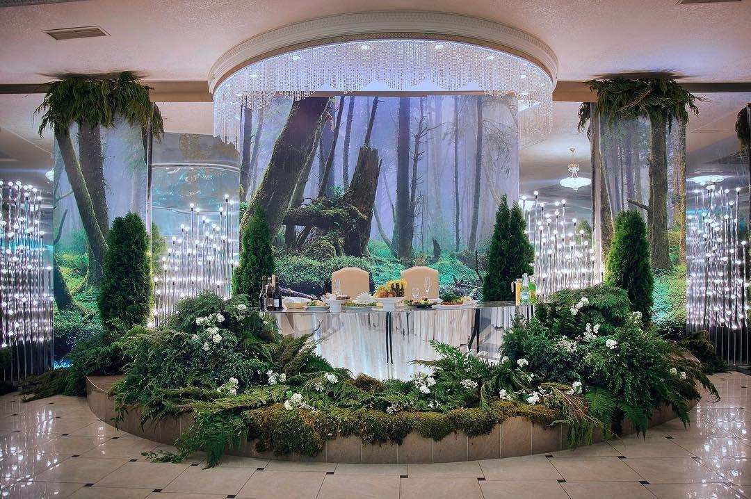 ...лесной президиум Кирилла и Валерии в Лесной Поляне) #декор #свадьба #свадьбаставрополь #оформлениесвадьбы
