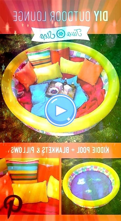 time in a Comfortable Outdoor Lounge Blow up a kiddie pool and fill it with blankets and pill Snack time in a Comfortable Outdoor Lounge Blow up a kiddie pool and fill it...