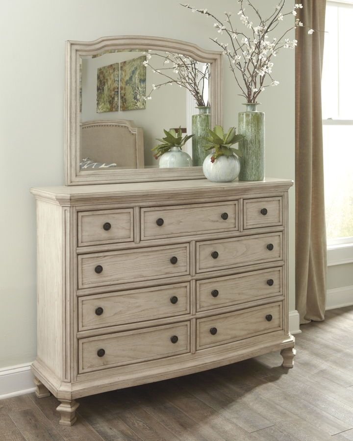 Best Ashley Furniture Demarlos Dresser And Mirror White 400 x 300